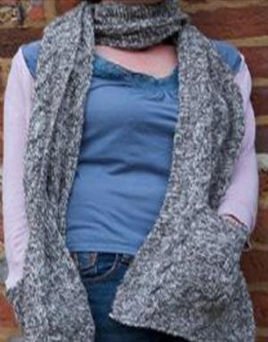 Knitted Pocket Scarf Pattern : Penny Pocket Scarf